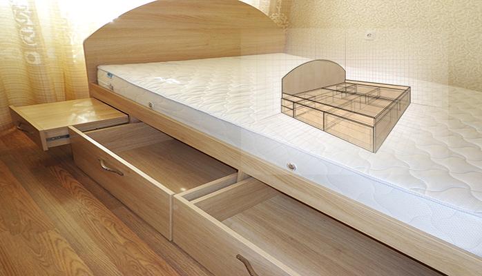 мебель для спальни кровать на заказ киев